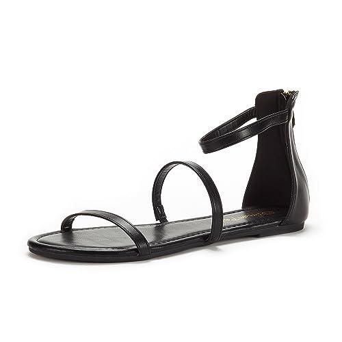 Women's Black Flat Sandals Flat Women's Gladiator 4A5RjL
