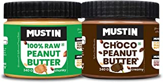 Mustin All Natural Peanut Butter Chunky(340g), Choco Peanut Butter Creamy(340g)