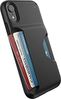 Speck Products Presidio Wallet iPhone XR Case, Black/Black