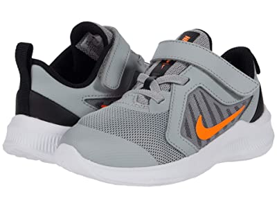 Nike Kids Downshifter 10 (Infant/Toddler) (Light Smoke Grey/Total Orange/Black/White) Kid
