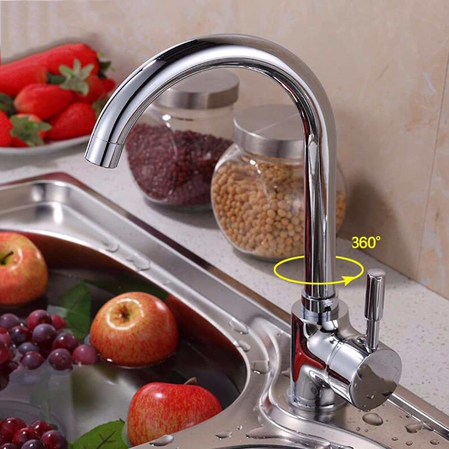 XPYFaucet Faucet Tap Taps Kitchen hot and cold copper redatable sink sink balcony kitchen heightening, A