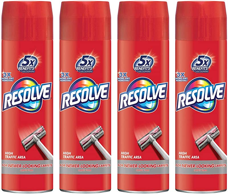 Resolve High Traffic Carpet Foam 88 Oz 4 Cans X 22 Oz Cleans Freshens Softens Removes Stains