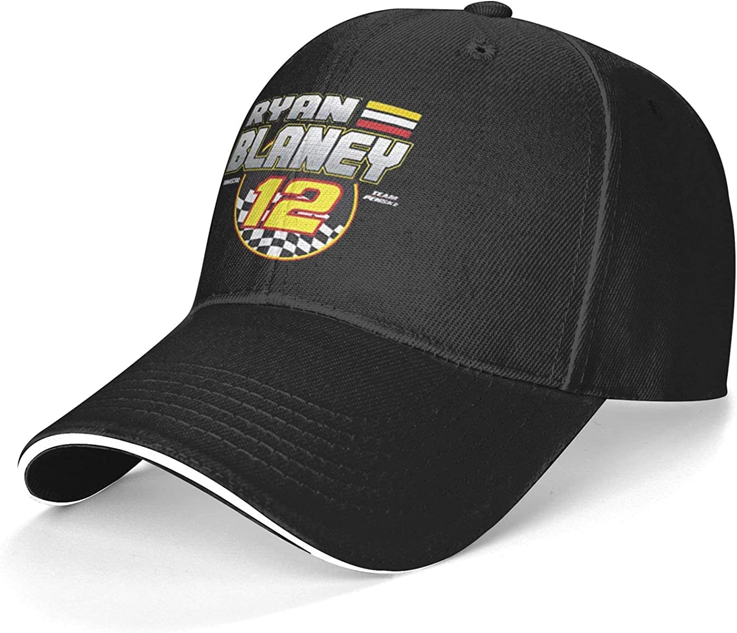 Ryan Blaney Dad Hat Breathable Quick-Drying Top Hat Baseball Cap Black