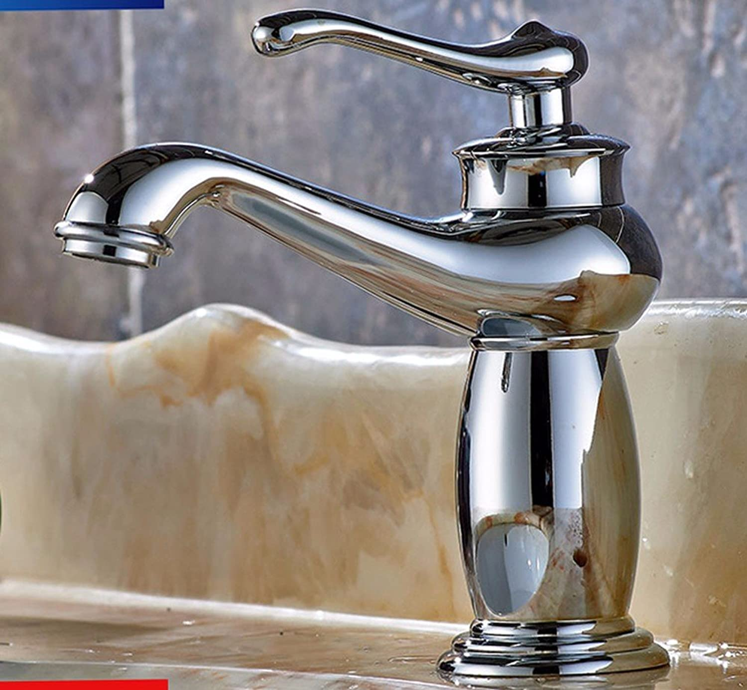 Hlluya Professional Sink Mixer Tap Kitchen Faucet Copper, hot and cold, bathroom, vanity area with a sink and faucet