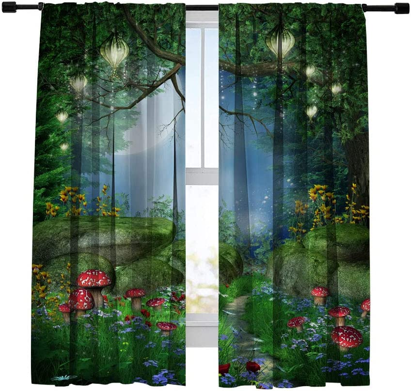 Miblor Room Darkening Blackout 期間限定特価品 Bedroom Living Curtains 2020モデル for