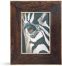 SARO LIFESTYLE Woodland Collection Moldura de madeira e osso para fotos, 12,7 cm x 17,7 cm, marrom