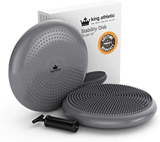 King Athletic Stability Balance Disc :: Wobble Cushion Core Trainer :: for Home or Office Desk Chair and Kids Classroom Sensory Wiggle Seat :: Instructional eBook Included