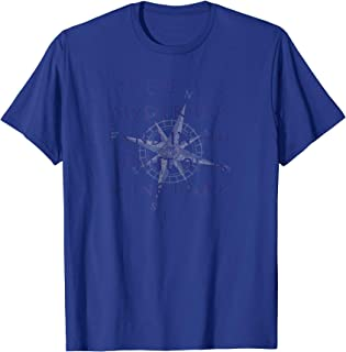Mysterious Land Quotable Nautical Compass Shirt For Sailors