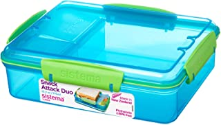Sistema Lunch Snack Attack Duo, 975 ml - (Assorted Colour)