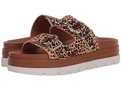 J/Slides Baha (Natural/Black Leopard) Women