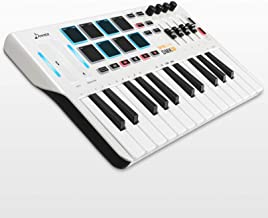 Donner DMK 25 MIDI Keyboard Controller Music Mini Key With 8 Backlit Drum Pads, 4 Knobs 4 control faders MIDI Controller W...