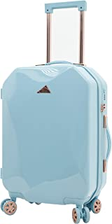 kensie Women's Only Shiny Diamond Hardside Spinner Luggage Set, Sky Blue, Carry-On 20-Inch