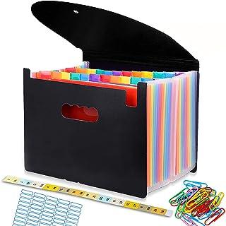 Trieur A4 range document, Classeur Rangement 24 Compartiments, Chemise Papier Administratif, Documents Organiseur de Fichi...