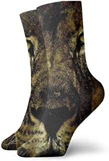 Luxury Calcetines de Deporte Colorful Africa Flag Lion King Adult Short Socks Cotton Cozy Socks for Mens Womens Yoga Hiking Cycling Running Soccer Sports