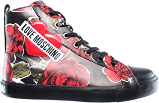 808b6434ab497 Love Moschino Chaussures Femmes Sneakers SCA Nod Gomma 30 Nappa PU Rose Ner  New