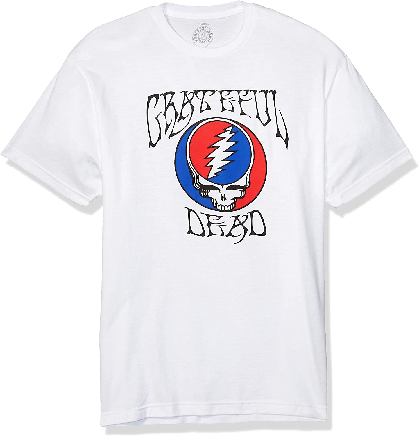 Impact Grateful Dead Logo with Steal Your Face Fitted Men's T Shirt