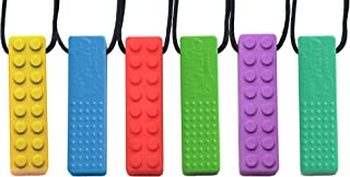Tilcare Chew Chew Sensory Teether Necklace – Best for Autism, Biting and Teething Kids – Perfectly Textured Silicone Chewy Toys - Chewing Pendant for Boys & Girls - Chewlery Necklaces (6-Pack)