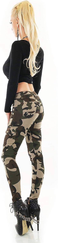 Ladies Cargo Pants Skinny Slim Trousers Soft Stretch Cotton Jeans UK 6-14