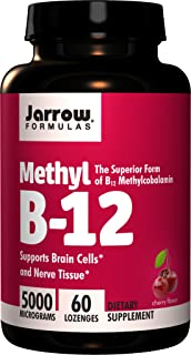 Jarrow Formulas, Methyl B12 Lozenges 5000Mcg, 60 Tablets