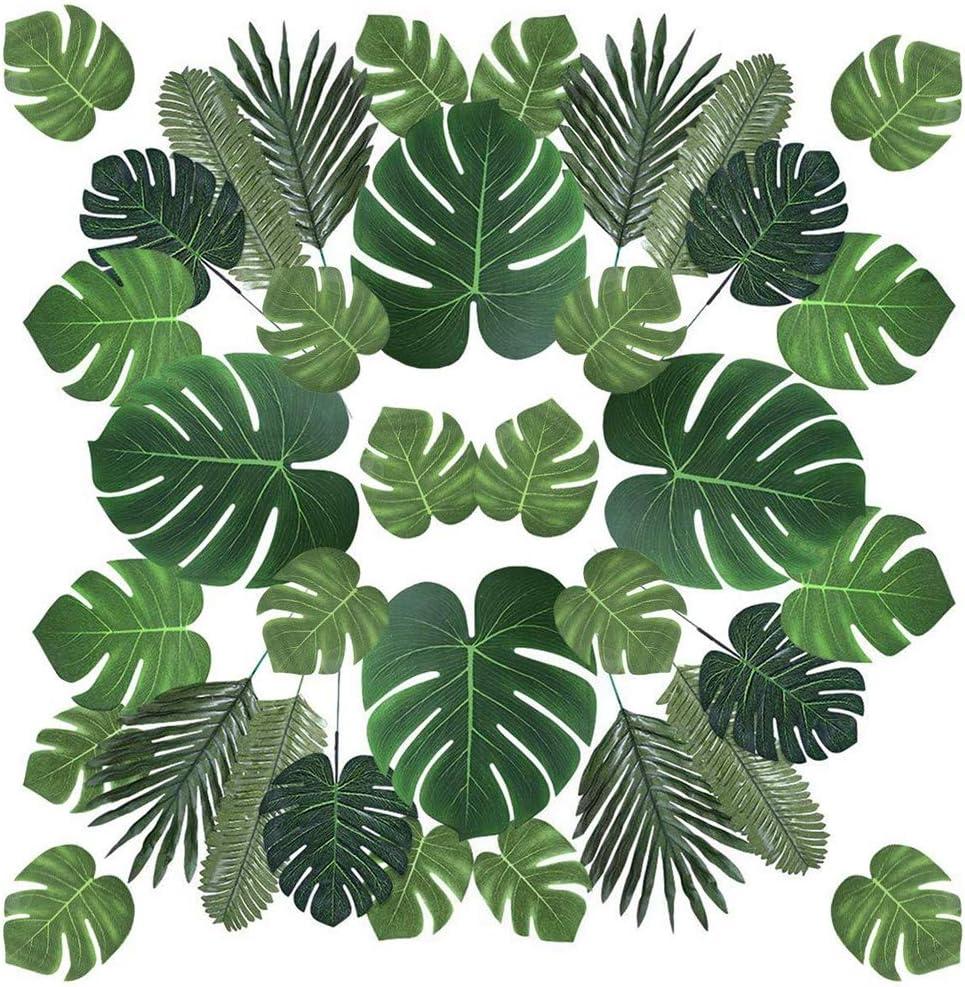 90 San Antonio Mall sale PCS 6 Kinds Artificial Tropical Leaves Palm Decoration