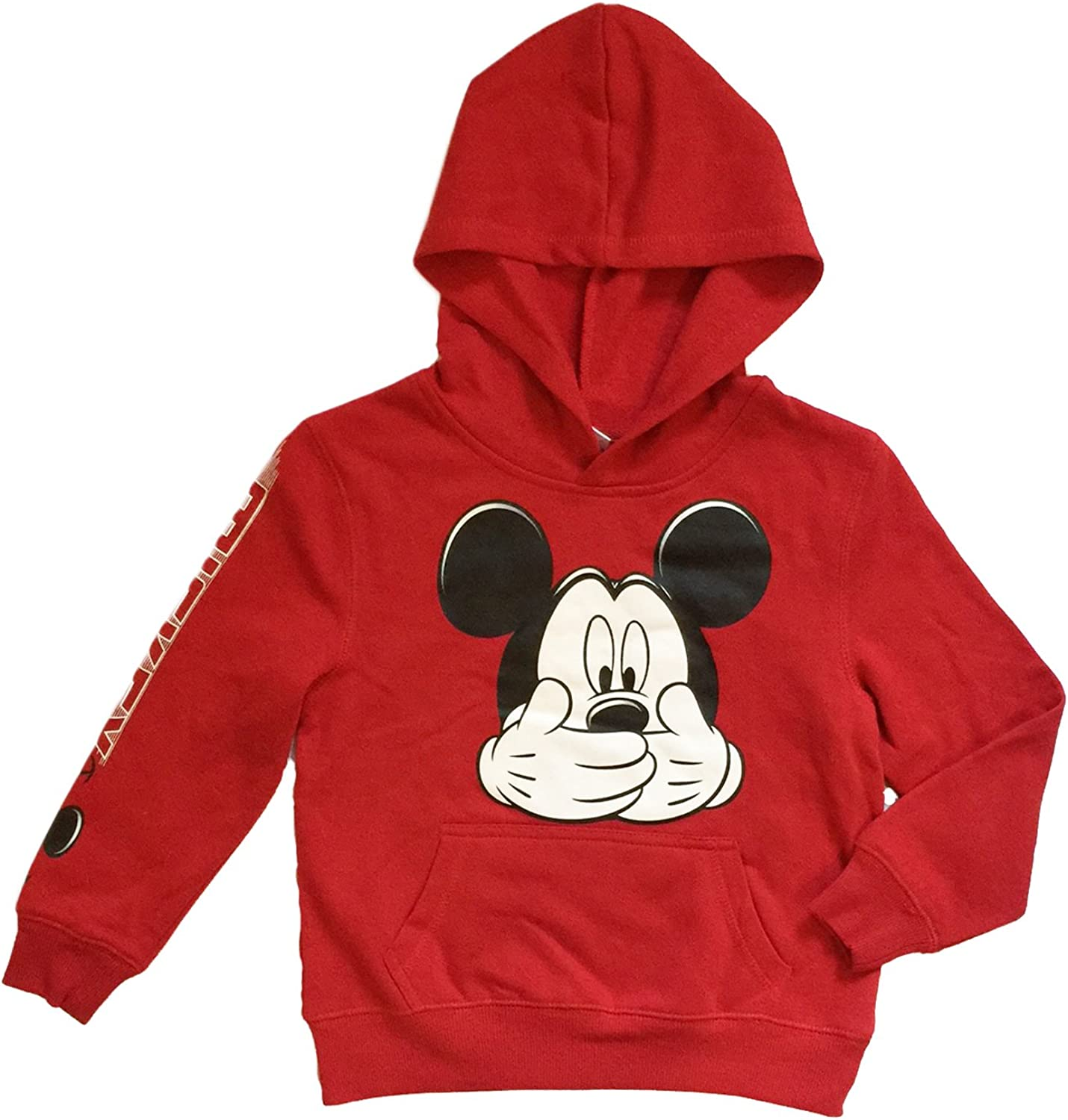 Jerry Leigh Disney Mickey Mouse Little & Big Boys Hooded Sweatshirt (XL (14/16)), Red
