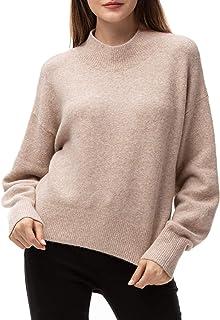 Élégant femme lâche chauve-souris à encolure ras-du-cou en mailles de qualité top//pull taille 8-26