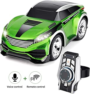 SHIJIEBEI 2018 Upgraded Remote Control Car, Rechargeable Toy Voice Control Car, Command by Smart Watch, Creative Voice-Activated car for Kids, Durable and Easy to Control.