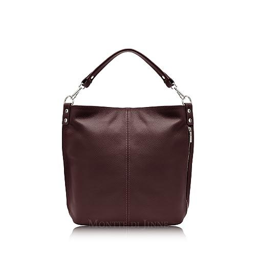 b6f2899c2198f Burgundy Leather Handbag: Amazon.co.uk
