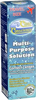 Clear Conscience Multi Purpose Contact Lens Solution - Travel Size - 3 oz - Specially formulated for sensitive eyes