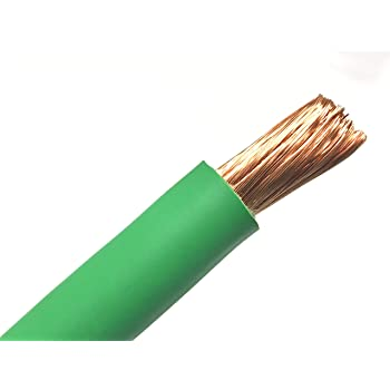 5/' FT 4 AWG GAUGE WELDING CABLEYELLOW COPPER BATTERY LEADS MADE IN USA