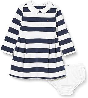 Tommy Hilfiger Baby Rugby Stripe Dress L/S Vestido para Niñas