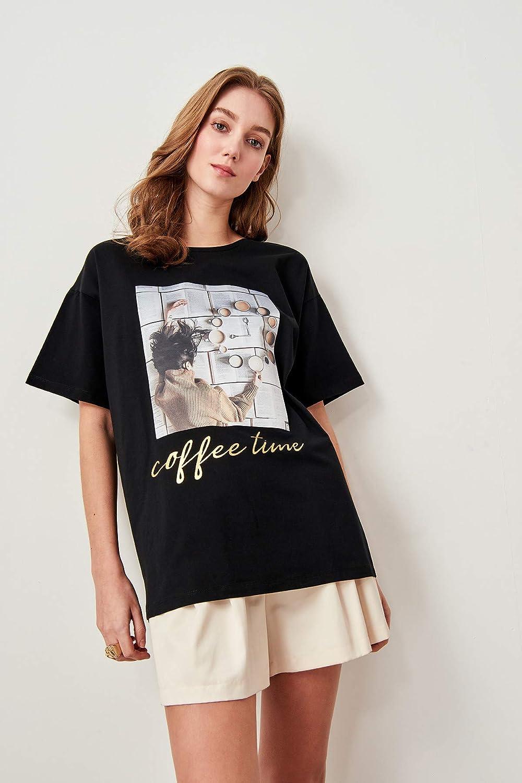 HKSADX Strickmuster Bedruckte T-Shirts Damenmode mit kurzen rmeln