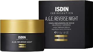 Isdinceutics A.G.E. Reverse Night, Crema reparadora de noche con Melatonina Anti Aging, 50 ml, Pack de 1