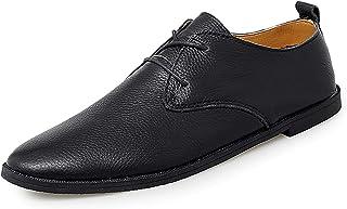 Zapatos casuales Zapatos casuales para hombres, cordones de negocios 2 zapatos de punto de punta redondos, color sólido. (...