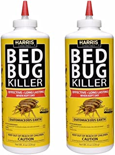 Harris Bed Bug Killer, Diatomaceous Earth Powder 1/2 LB, Fast Kill with Extended Residual Protection (2/Pack)