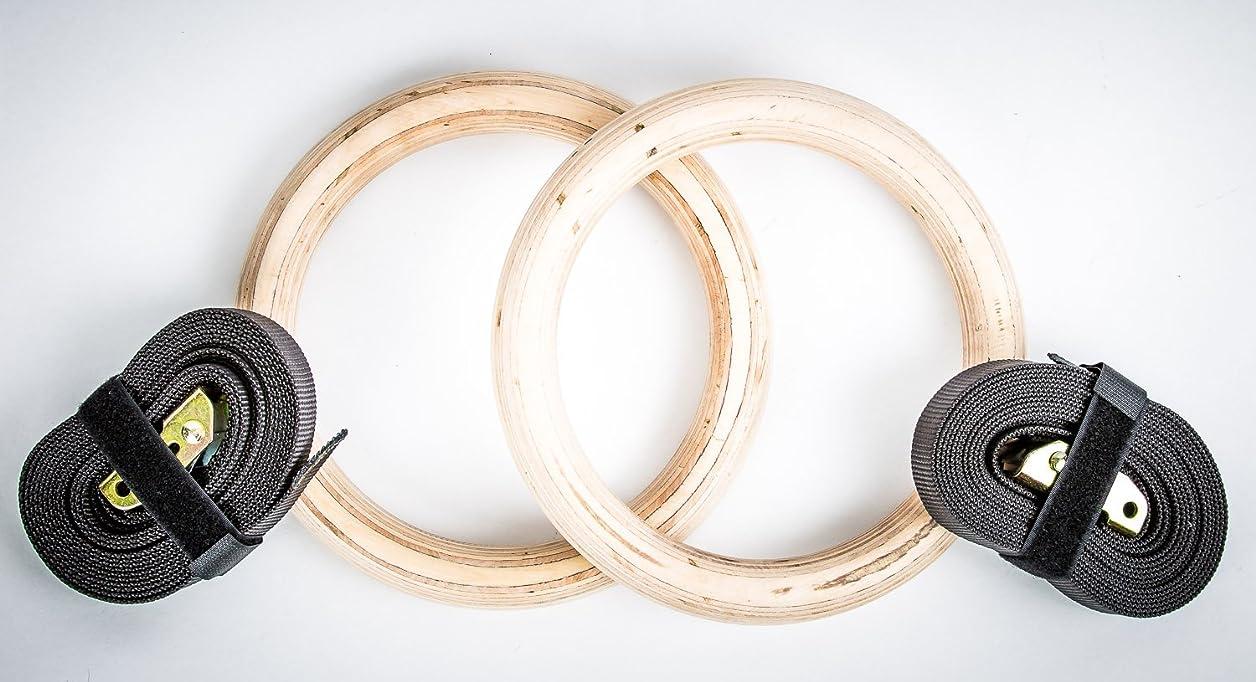 メロドラマティック対処する涙Wood Fitness GYM Rings