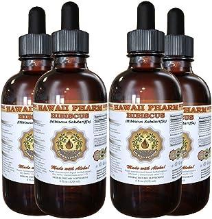 Hibiscus Liquid Extract, Organic Hibiscus Flowers (Hibiscus Sabdariffa) Tincture 4x4 oz