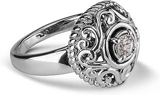 april floral birthstone ring