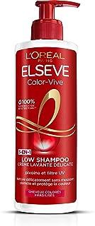 LOréal Paris Elsève Low Shampoo Color Vive Crème Lavante Délicate pour Cheveux Colorés 400 ml