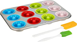 Prestige 12 Cups Fluted Muffin Pan Bundt - Pr57156,Multi Color