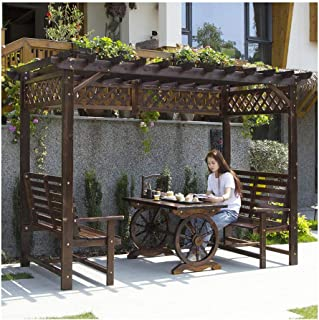 Amazon.es: Cenador para patio - Madera / Cenadores ...