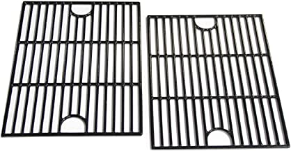 Hongso 17 inch Porcelain Coated Cast Iron Cooking Grids Grates Replacement for Nexgrill 720-0830H, Kenmore 41516106210 415.16106210 Gas Grill, Set of 2 (PCA192)