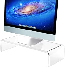 Acrylic Monitor Stand & Keyboard Stand, Clear Computer Monitor Riser with Sturdy, Hold up to 50lbs Desktop Monitor Stand f...