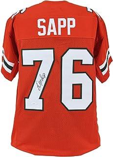 Warren Sapp Autographed Signed Miami Authentic Orange Jersey Autographed JSA Witness