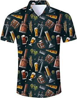 Rooper Camisetas Hombre Manga Corta Transpirable Camiseta Algodon Manga Corta 3D Cerveza Impresi/ón Camisa Manga Corta Blusa Moda
