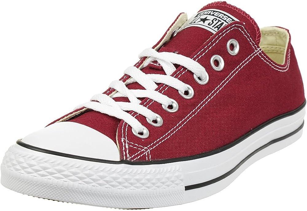 Converse all star ox maroon scarpe sneakers basse unisex in tela 66020004360