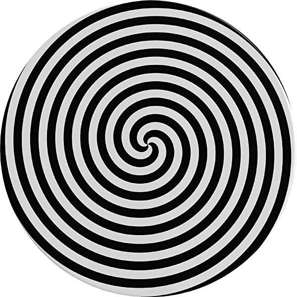 12 Hypnotic Spiral Wall Dot Decal Vinyl Sticker Graphic Removable Reusable Black White Swirl Circle Photo For Home Office Bedroom Decor