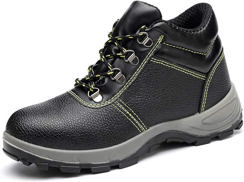 YLJXXY Men's Work Safety ShoesWaterproof Industrial Construction Steel Toe Footwear Outdoor Slip Resistant Puncture Proof Boots,Black high top,38