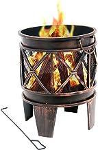 BBQ-Toro Feuerkorb Plum | Durchmesser 42 x 52,5 cm | Feuerschale in Antik-Rost-Optik, Garten Feuerstelle