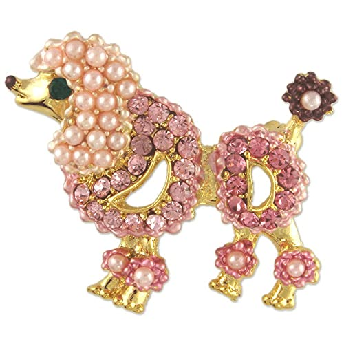 Jewelry & Watches French Lady With Poodle Brooch Pink For Fast Shipping Fashion Jewelry